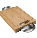Zanes, Inc. - Napoleon PRO Cutting Board with Stainless Steel Bowls